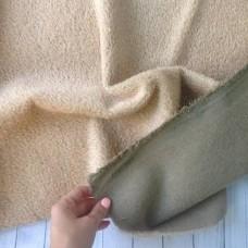 150-701- Прореженный мохер для тедди - бежевый на серой основе