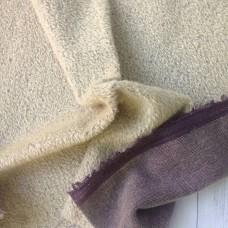 150-706- Прореженный мохер для тедди - светло-серый на фиолетовой основе