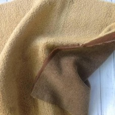 150-705- Прореженный мохер для тедди - светло-коричневый на коричневой основе