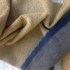 150-710- Прореженный мохер для тедди - капучино на синей основе