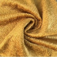 136-3017 - Завитая вискоза для тедди, 7 мм, золотистая