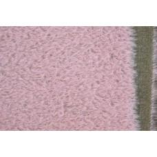 150-707- Прореженный мохер для тедди - светло-розовый на оливковой основе