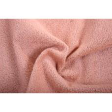 150-709- Прореженный мохер для тедди - розовый на коричневой основе
