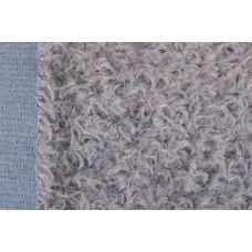 146-3105- Завитой мохер, 15 мм, темно-серый на синей основе