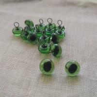 34-106 - Глазки кошачьи зеленые - 6 мм