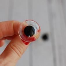 36-124 - Глаза стеклянные для тедди, под роспись - 24 мм