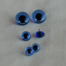 B-04 - Глаза стеклянные для тедди, голубые - 10 мм