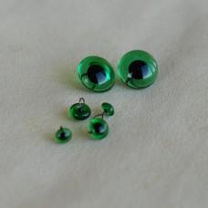 B-09 - Глаза стеклянные для тедди, зеленые - 6 мм