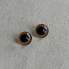 G-07 - Глаза стеклянные для тедди, золотистые, обожженые