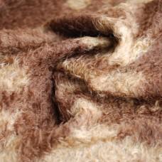 107-3111 - Мохер батик для тедди, завитой, коричневый
