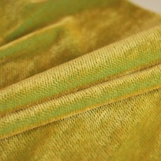 HM-081 - Яркий контрастный мохер-щетка, лимонный ворс на зеленой основе