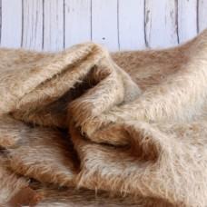 144-3090 - Прореженный мохер для тедди антик - коричневый