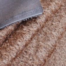 144-3141 - Прореженный мохер для тедди антик, коричневый на темной основе, 16 мм