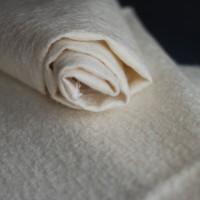 l038 - Прореженный мохер для тедди антик, 11 мм, белый