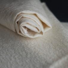 145-3011 - Прореженный мохер для тедди антик, 11 мм, белый