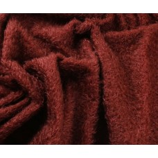 144-3043 - Прореженный мохер для тедди антик, бургундский, 16 мм