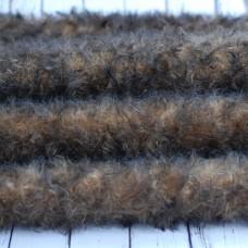 160-3109 - Завитой мохер, 25 мм - коричневый с темными кончиками