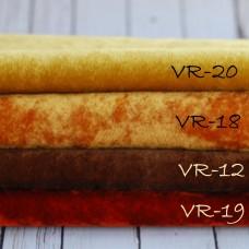 VR-19 - Винтажная вискоза для миниатюры - красно-коричневая