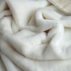 123-3011 - Немецкий плюш для тедди, 13 мм, белоснежный