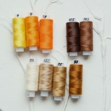 Нить для шитья 45лл - цвет под ткань